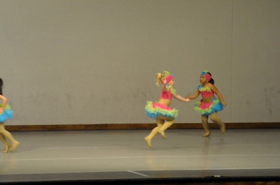 These were the CUTEST little girl and the youngest that performed from the Feet of Fire dance group.