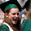 N0529NIWOT05.jpg N0530NIWOT05<br /> Niwot graduate Erika Volino reacts the outrageously funny speach by Niwot faculty member Becky Shaw-Meyers during the Niwot commencement ceremony on Saturday morning, May 29th, 2010.<br /> <br /> Photo by: Jonathan Castner
