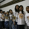 Karen Graf's 4th Grade class at Laurel Elementary School prepares to go on stage at the 2009 Oratorical Fest.
