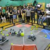 Robots from 11 different schools compete during the May 19, 2016 VEX Robotics competition at Oakmont Regional High School in Ashburnham. SENTIENL & ENTERPRISE/JOHN LOVE