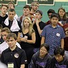 Many teams and spectators watch as the final team compete for the win during the May 19, 2016 VEX Robotics competition at Oakmont Regional High School in Ashburnham. SENTIENL & ENTERPRISE/JOHN LOVE