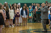 Music Director Kris S. DeMoura directs the Oakmont Concert Choir in The Star Spangled Banner during the Class of 2016 Commencement exercise. SENTINEL&ENTERPRISE/ Jim Marabello