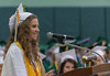 Vanessa Archangelo, Student Council President, speaks during the Oakmont Class of 2016  Commencement. SENTINEL&ENTERPRISE/ Jim Marabello