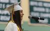 Oakmont Class of 2016 President Skylar Alves speaks during her class' Commencement. SENTINEL&ENTERPRISE/ Jim Marabello