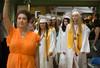 Oakmont Seniors led by Class President Skylay Alves march into their Commencement. SENTINEL&ENTERPRISE/ Jim Marabello