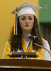 Morgan Beatty, Oakmont Class of 2016 speaks during her class' Commencement. SENTINEL&ENTERPRISE/ Jim Marabello