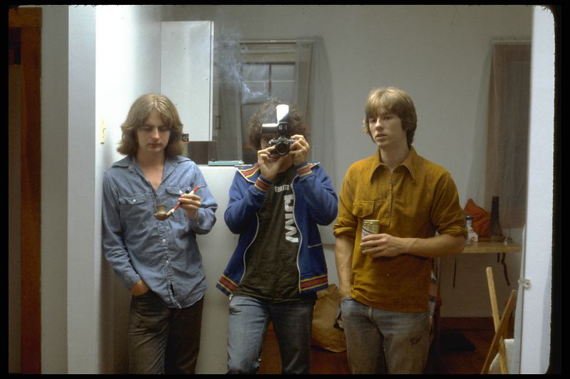 """Dave, Shep, Mark """"Motel Unit Mirror"""" (ca. 1977)"""