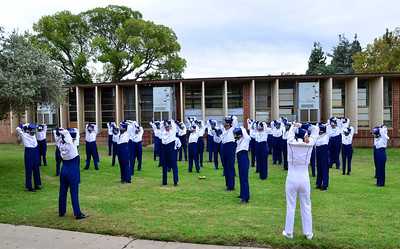 itchy band uniforms.
