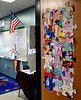 Bob Raines--Montgomery Media / Puzzle pieces on a classroom door at Inglewood Elementary School May 22, 2015 are part of an autism awareness project.