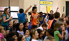 """Bob Raines--Montgomery Media / Students in Brynn Hoffman's class cheer the announcement that they took First Place in the """"Penny Wars"""" at Inglewood Elementary School  May 22, 2015 which raised money for autism awareness."""