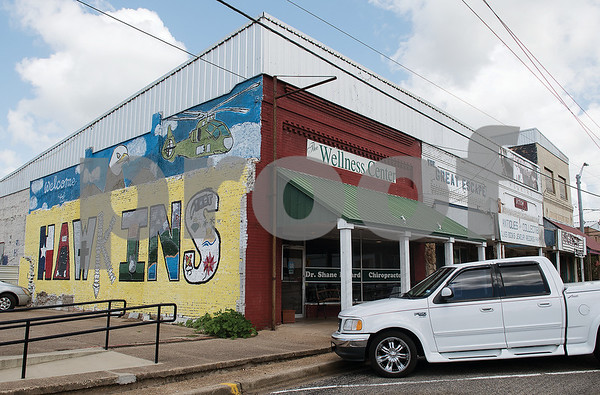 A mural was painted by Jarvis Christian College students in the fall of 2016. Hawkins is looking to revitalize their downtown area.  (Sarah A. Miller/Tyler Morning Telegraph)