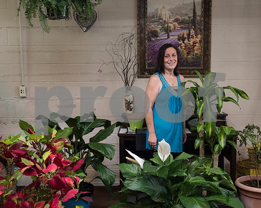 Angela Moon is the owner of the new florist shop, Moonlight Flower Shop, located in downtown Hawkins. Hawkins is looking to revitalize their downtown area.  (Sarah A. Miller/Tyler Morning Telegraph)