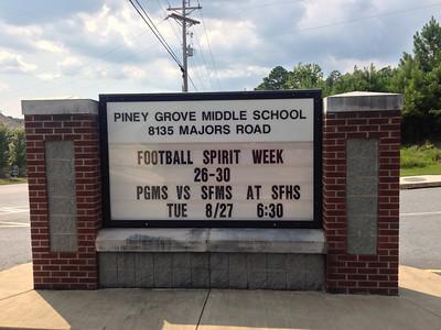 Piney Grove MS vs South Forsyth MS - Aug, 27, 2013