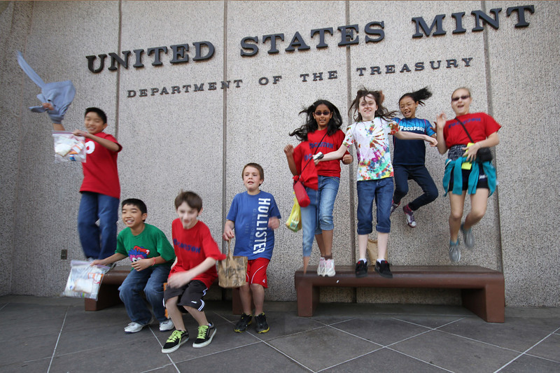 Our first stop - the Philadelphia Mint