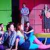 Mr. Belvedere played by 12th grader Ethan Fisher and Ms Brannigan played by 12th grader Amelia Adams call an assembly where they announce a concert will commence, under Corey's direction.