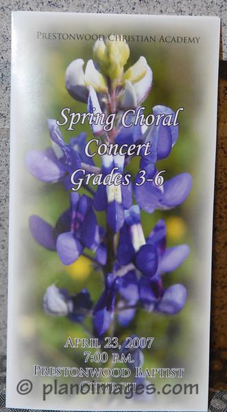 Prestonwood Christian 3-6 Grade Spring Choral Concert 2007