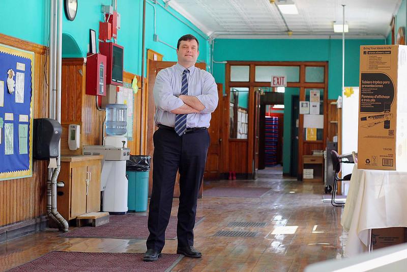 Principal Jim Riley of the Priest Street School in Leominster. SENTINEL & ENTERPRISE/JOHN LOVE