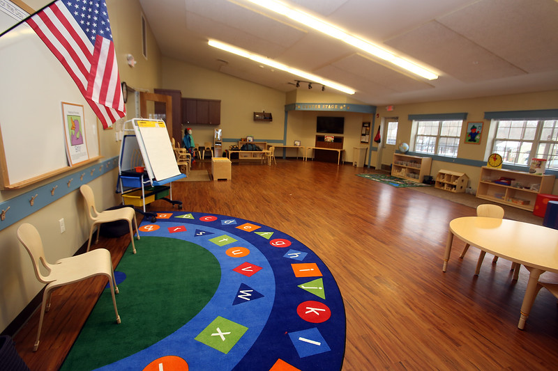 Recently Primrose School on North Road in Chelmsford, which has infant day care through kindergarten. This is the one current kindergarten room. Eventually they may have two kindergarten classes, and would need to rearrange rooms. (SUN/Julia Malakie)
