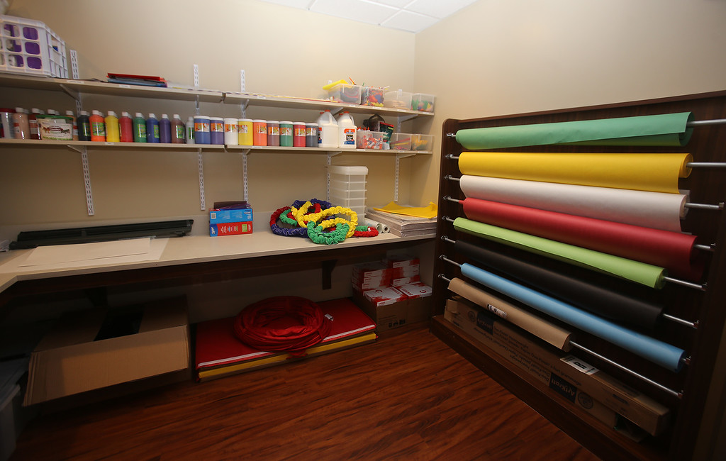 . Resource Room, where teachers go to get their supplies, at the recently opened Primrose School on North Road in Chelmsford, which has infant day care through kindergarten.  (SUN/Julia Malakie)