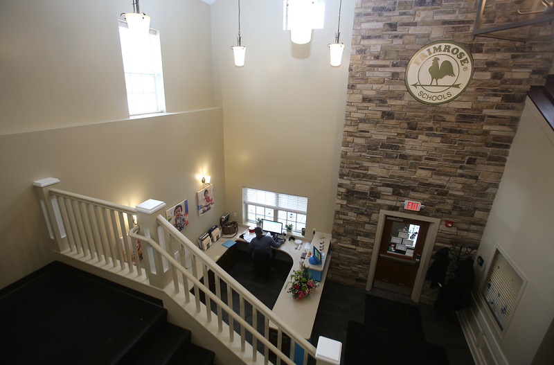 Recently Primrose School on North Road in Chelmsford, which has infant day care through kindergarten. The lobby is in the new section of the building. (SUN/Julia Malakie)