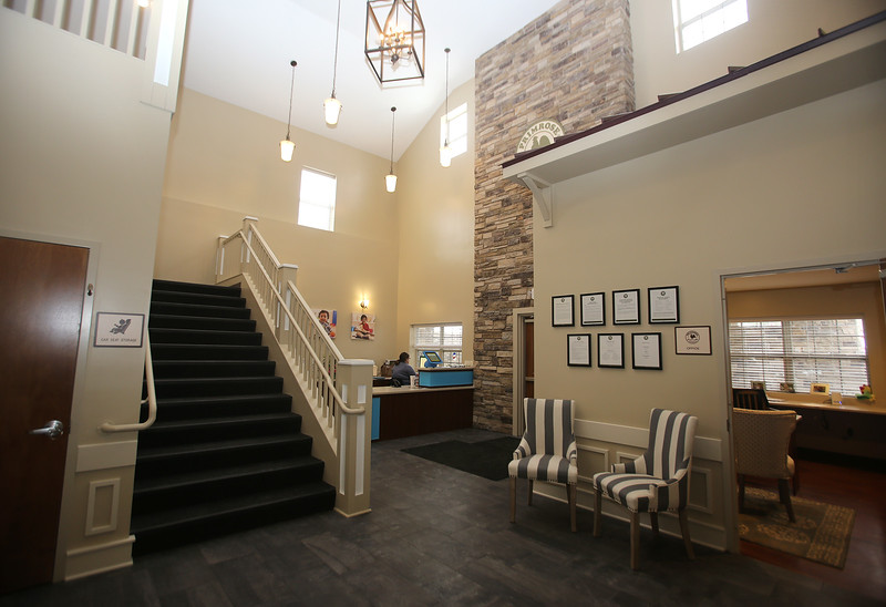 Lobby of the recently opened Primrose School on North Road in Chelmsford, which has infant day care through kindergarten.  (SUN/Julia Malakie)