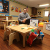 Rob Parsons gives a tour of the recently Primrose School on North Road in Chelmsford, which has infant day care through kindergarten. This is a Toddler classroom, with the smallest size chairs. The furniture is made by the Amish. (SUN/Julia Malakie)