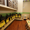 Recently Primrose School on North Road in Chelmsford, which has infant day care through kindergarten. This is an Early Pre-School room. Each age group has different backpacks (without names on them, for safety). The names will go over the hooks. (SUN/Julia Malakie)