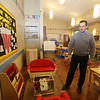 Rob Parsons gives a tour of the recently opened Primrose School on North Road in Chelmsford, which has infant day care through kindergarten.  This is one of two Pre-K classrooms, which are in what used to be the church. They were able to keep the light fixtures exactly where they'd been in the church. (SUN/Julia Malakie)