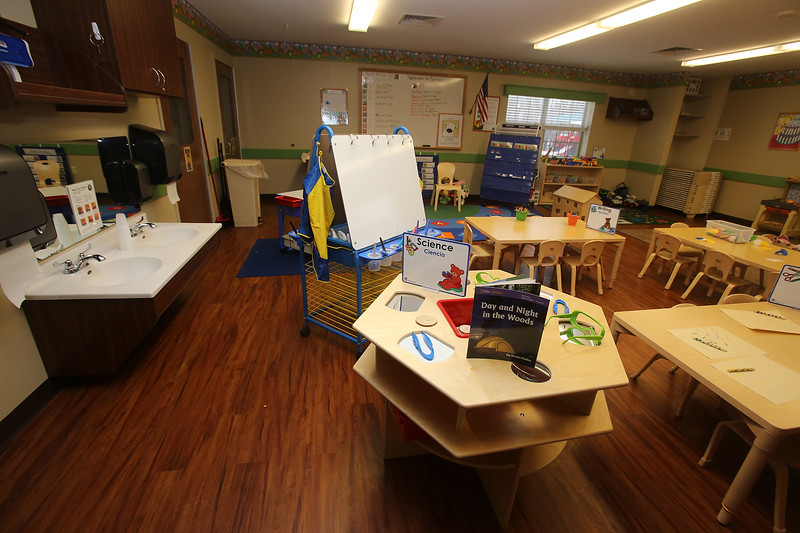 A Pre-School room at the recently Primrose School on North Road in Chelmsford, which has infant day care through kindergarten.  (SUN/Julia Malakie)