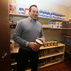 Rob Parsons in the Resource Room at the recently opened Primrose School on North Road in Chelmsford, which has infant day care through kindergarten. This is where teachers go to get their supplies each day. (SUN/Julia Malakie)