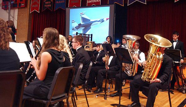Veteran's Day program at Anderson High School.