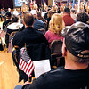 Each veteran received an American flag for the Veteran's Day program at Anderson High School.