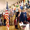 John P. Cleary | The Herald Bulletin<br /> Veteran's Day program at Liberty Christian School.