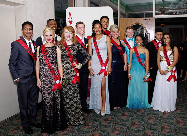 """Anderson High School's 2015 Prom was held Saturday evening at the Paramount Ballroom to the theme of """"Casino Night in Vegas.""""<br /> The members of the 2015 Anderson High School prom court."""