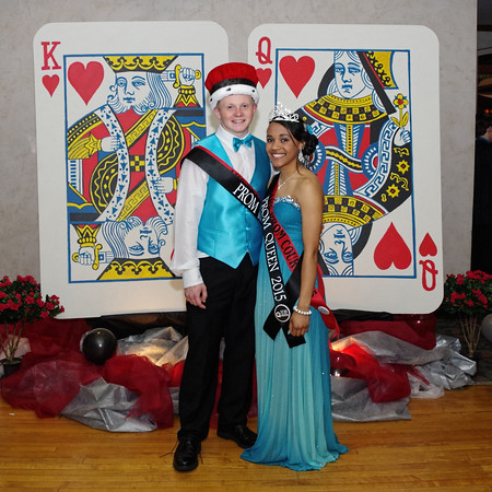 """Conor Diltz and Tamara Fuller were crowned king and queen of the Anderson High School """"Casino Night in Vegas"""" prom.<br /> Anderson High School's 2015 Prom was held Saturday evening at the Paramount Ballroom to the theme of """"Casino Night in Vegas."""""""