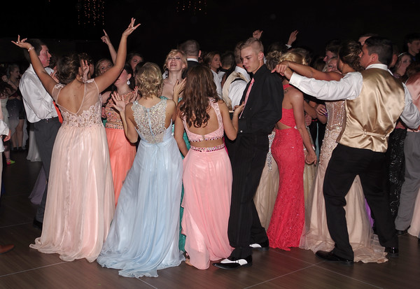 Madison-Grant Prom goers pack the dance floor at the Horizon Centre on Saturday night.