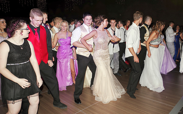 The dance floor at Muncie's Horizon Centre was filled to capacity during the Madison-Grant prom.