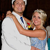 King Dakota Borders and Queen Taylor Jones share a dance at the Elwood High School Prom.