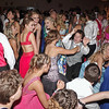 Elwood High School Prom goers crowd the dance floor.