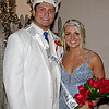 "King Dakota Borders and Queen Taylor Jones reign over the ""Enchanted Forest"" at Elwood High School's Prom."