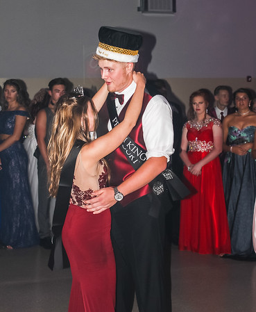 Photo by Chris Martin for The Herald Bulletin.  Frankton's 2017 Prom King Jake Richwine and Queen Savannah Southerd take their dance.
