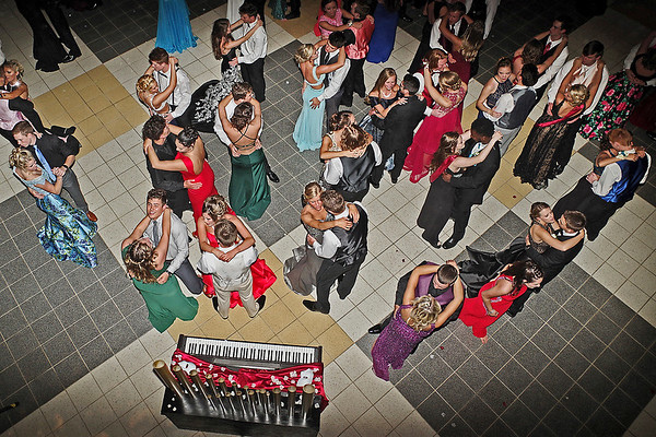 "Mark Maynard | for The Herald Bulletin<br /> Dancers take to the floor during Lapel High School's ""Phantom of the Opera"" themed prom."