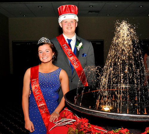 John P. Cleary | The Herald Bulletin<br /> Kennedee Franklin and Caleb Wilson were crowned the 2017 Madison-Grant High School Prom Queen and King during the event held at the Horizon Center in Muncie Saturday evening.