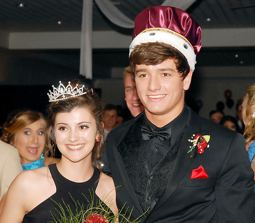 David Humphrey | for The Herald Bulletin<br /> Shenandoah High School celebrated their 2017 prom at the Officer's Club in Anderson Saturday evening April 15th. Clay Meadows and Lexi Wensel were crowned prince and princess at the Shenandoah Prom.