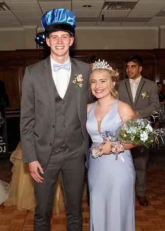 Colton Monday and Alexis James were crowned Prince and Princess of the Shenandoah High School Prom. (Mark Maynard photo)