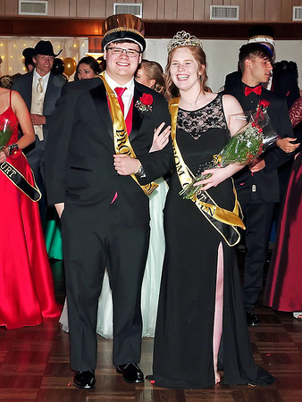 Mark Maynard   for The Herald Bulletin<br /> King Mark Riggs and Queen Harleigh Perry reign over the Shenandoah High School Prom.