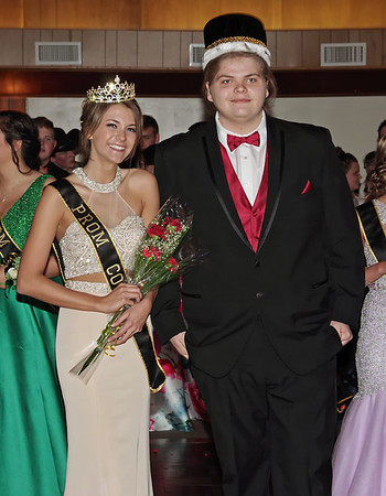 Mark Maynard   for The Herald Bulletin<br /> Madison Surface and Keegan Brown were crowned Junior Princess and Prince of the Shenandoah High School Prom.