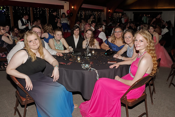 Mark Maynard   for The Herald Bulletin<br /> Sharing smiles and a table at the Shenandoah High School Prom.