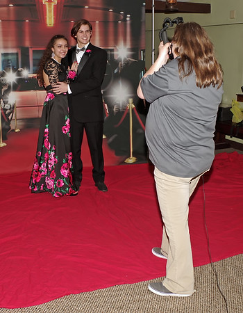 Mark Maynard | for The Herald Bulletin<br /> Rose Cante and Ty Sanders pose for their Shenandoah High School Prom portrait.