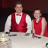 Mark Maynard | for The Herald Bulletin<br /> Allendyce Fidler and Rylee Franklin take a break during the Madison-Grant prom at the Horizon Center.